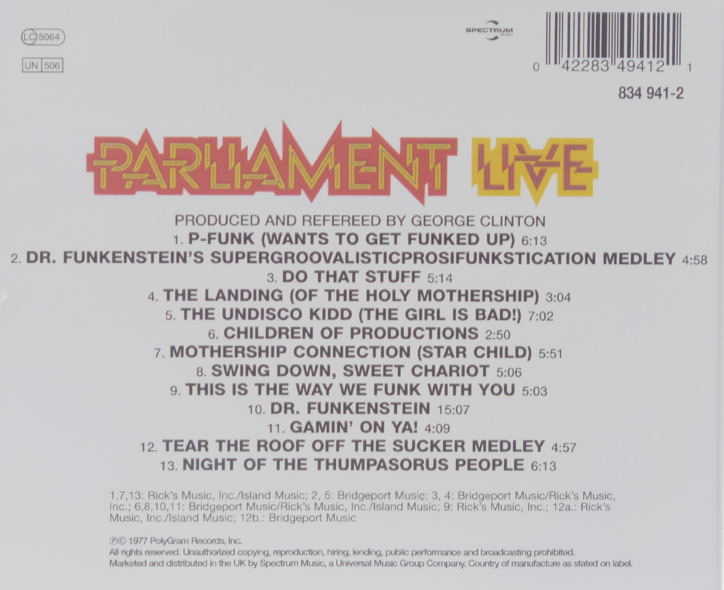 Parliament.  Live.  P.  Funk Earth Tour ООО