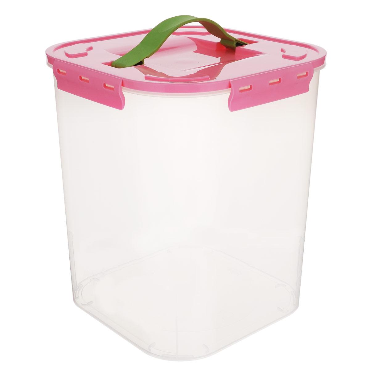 Контейнер для хранения Idea, цвет: розовый, прозрачный, 10 л контейнер для хранения idea деко бомбы 10 л
