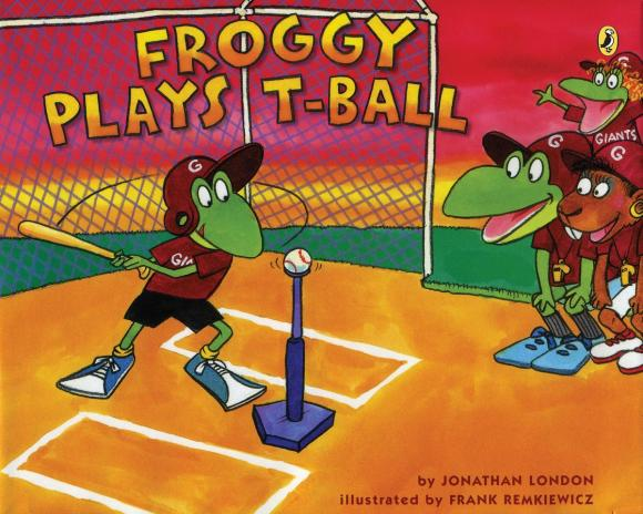 Froggy Plays T-ball plays
