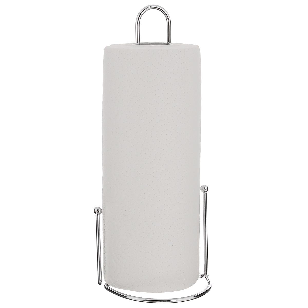 Держатель для бумажных полотенец Zeller24858Держатель для бумажных полотенец Zeller изготовлен из металла с хромированной поверхностью. Круглое основание обеспечивает устойчивость подставки. Вы можете установить ее в любом удобном месте. Держатель подходит для всех видов кухонных полотенец.Такой держатель для бумажных полотенец станет полезным аксессуаром в домашнем быту и идеально впишется в интерьер современной кухни.В комплекте с держателем - рулон бумажных полотенец для рук.Диаметр основания держателя: 12 см.Высота держателя: 31 см.