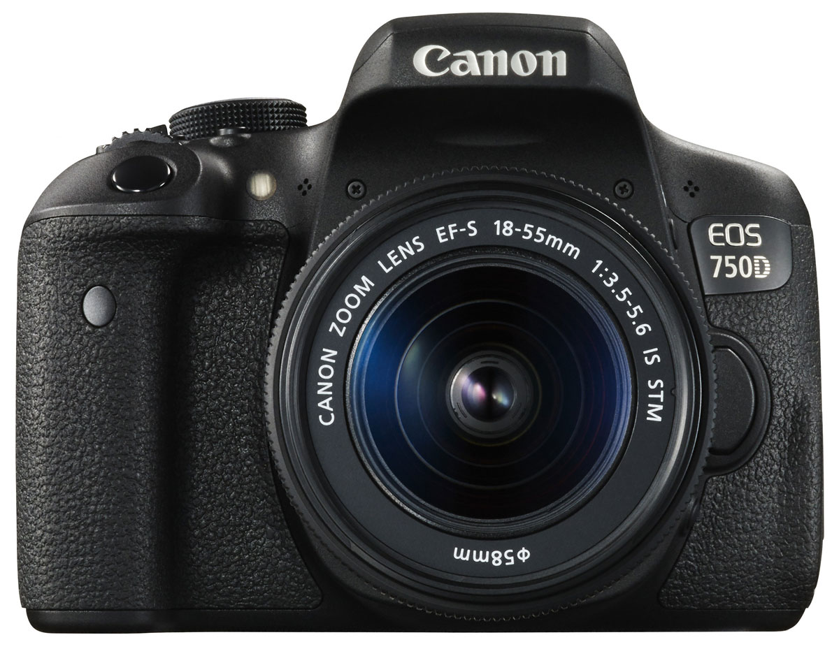 Canon EOS 750D Kit 18-55 IS STM, Black цифровая зеркальная фотокамера 0592C005