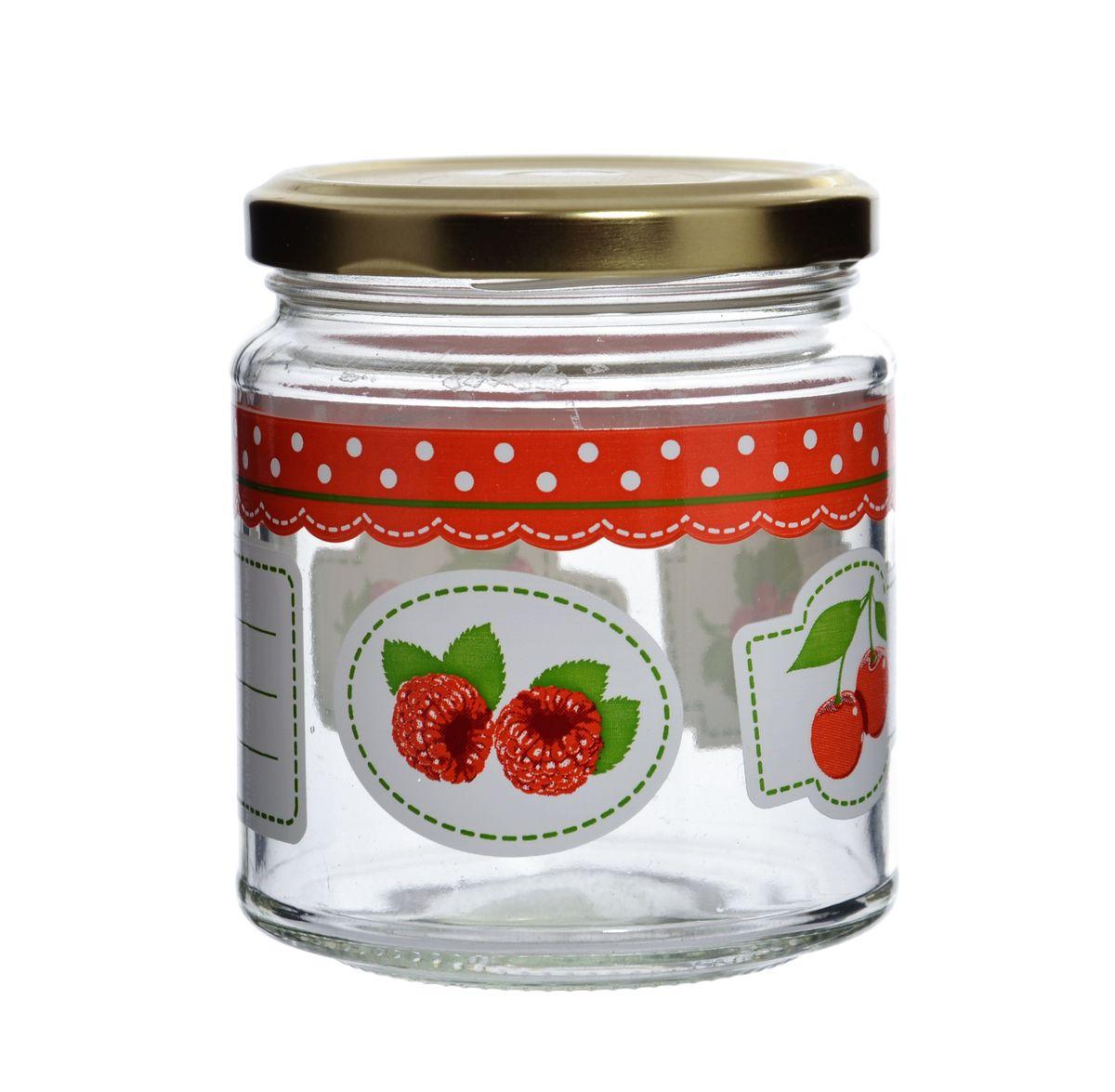 Банка Cerve Фруктовая фантазия, с крышкой, 300 млCEM48340Банка Cerve Фруктовая фантазия выполнена из стекла и декорирована изображением ягод. Имеется поле длязаписей. Емкость снабжена металлической закручивающейся крышкой. Такая банка подойдет для хранениясыпучих продуктов, а также варенья или меда. Полезное приобретение на кухню для любой хозяйки. Можно мыть впосудомоечной машине.