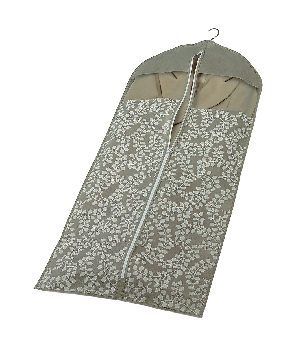 Чехол для пальто с молнией 137*60см Флораль. COVLCATF10 бежевыйCOVLCATF10Легкий чехол из дышащего нетканого материала (полипропилен), безопасного в использовании, для габаритной верхней одежды. Имеет два прозрачных окна, замок и специальное отверстие для крючка вешалки. Материал можно протирать в случае загрязнения влажной салфеткой или тряпкой. Надежно защищает от пыли, моли, солнечных лучей и загрязнения.