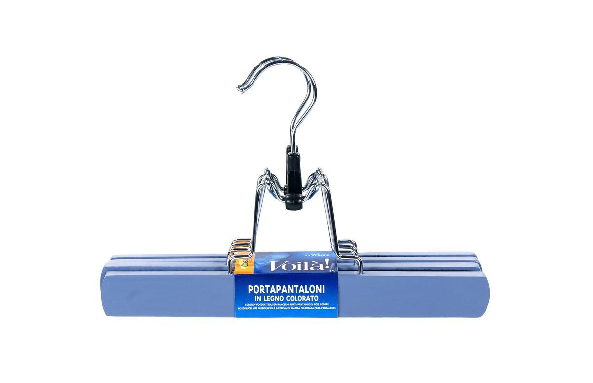 Вешалка-зажим для брюк Cosatto, цвет: голубой, 2 штCOVLPALT45Деревянная вешалка для одежды Cosatto изготовлена из натуральной крашеной, специально обработанной древесины (массив бука), защищенной бесцветным лаком от проникновения влаги, деформации или разбухания. Вешалка предназначена специально для брюк. Все металлические части вешалки изготовлены из нержавеющей стали с напылением, препятствующим окислению и ржавчине.Вешалка - это незаменимая вещь для того, чтобы ваша одежда всегда оставалась в хорошем состоянии. Размеры вешалки: 25 см х 2 см х 17 см.