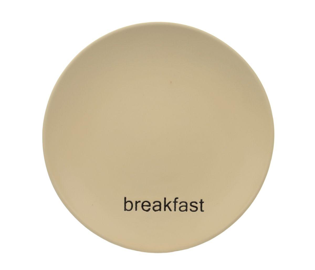 Тарелка Wing Star Breakfast, диаметр 18 смLJ2085-MPB3Тарелка Wing Star Breakfast изготовлена из высококачественной керамики. Предназначена для красивой подачи завтраков. Изделие украшено надписью Breakfast. Такая тарелка украсит сервировку стола и подчеркнет прекрасный вкус хозяйки.Можно мыть в посудомоечной машине и использовать в микроволновой печи. Диаметр: 18 см.Высота: 2 см.