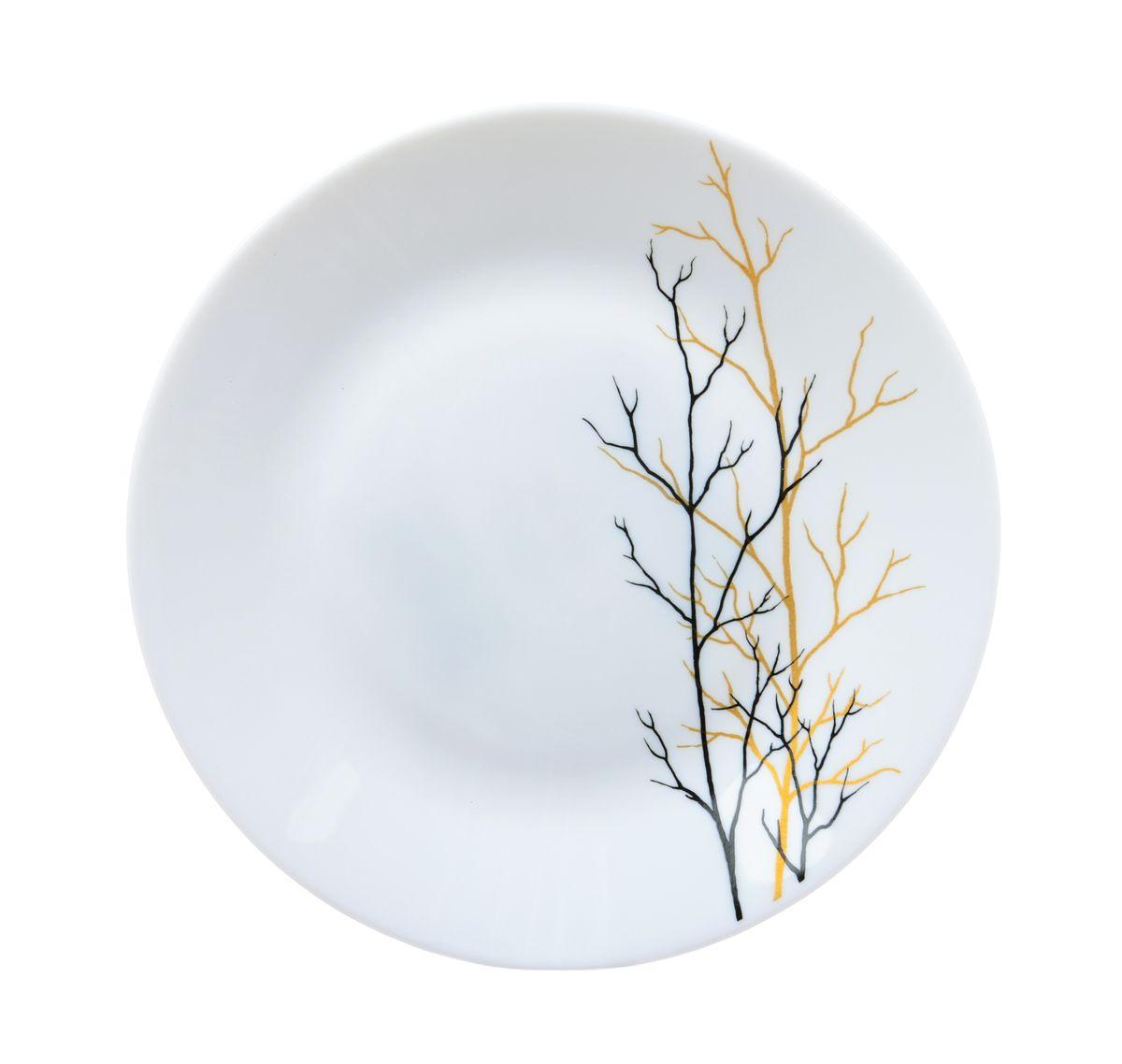 Тарелка десертная La Opala Золотая осень, диаметр 19 смOPAF002Тарелка десертная La Opala Золотая осень изготовлена из высококачественной стеклокерамики. Предназначена для красивой подачи различных блюд. Изделие украшено ярким рисунком.Такая тарелка украсит сервировку стола и подчеркнет прекрасный вкус хозяйки. Можно мыть в посудомоечной машине и использовать в микроволновой печи.Диаметр: 19 см. Высота: 2 см.