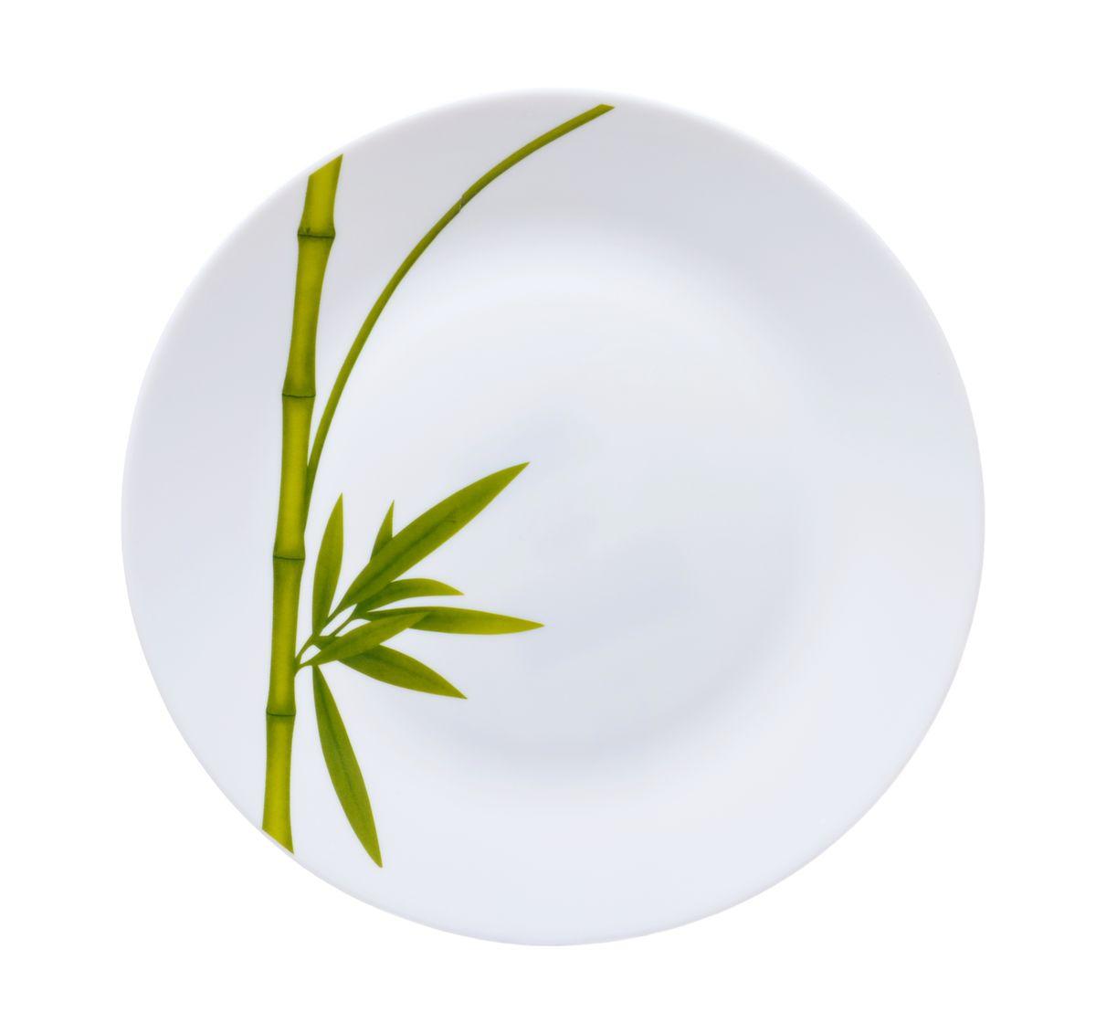 Тарелка для горячего La Opala Бамбук, диаметр 26,5 смOPFG001Тарелка для горячего La Opala Бамбук изготовлена из высококачественной стеклокерамики. Предназначена для красивой подачи различных блюд. Изделие декорировано ярким изображением стебля бамбука. Такая тарелка украсит сервировку стола и подчеркнет прекрасный вкус хозяйки.Можно мыть в посудомоечной машине и использовать в СВЧ. Диаметр: 26,5 см.Высота: 2 см.