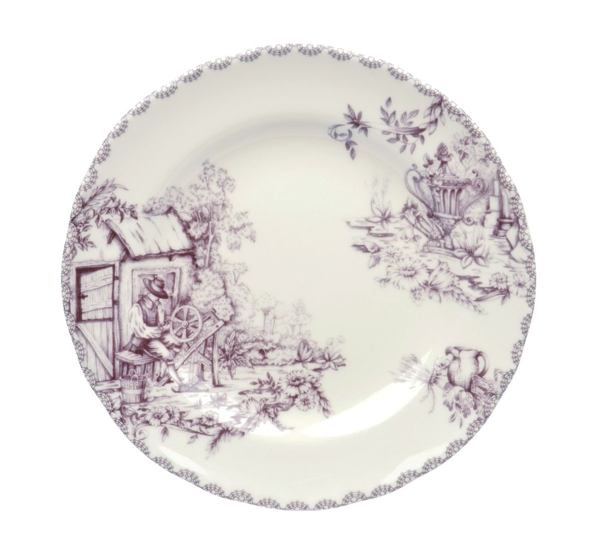 Тарелка десертная Utana Инглиш принтс Флинт, диаметр 22 см
