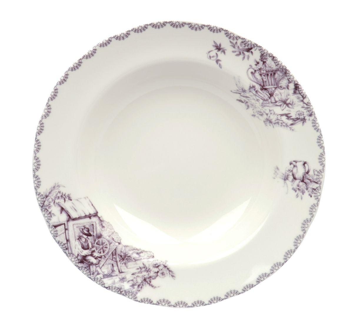 Тарелка глубокая Utana Инглиш принтс Флинт, диаметр 23,5 смUTEF97920Тарелка Utana Инглиш принтс Флинт изготовлена из высококачественнойкерамики. Предназначена для подачи супа или салата. Изделие декорированооригинальным принтом.Такая тарелка украсит сервировку стола и подчеркнет прекрасный вкус хозяйки. Можно мыть в посудомоечной машине и использовать в СВЧ. Диаметр: 23,5 см. Высота: 4 см.