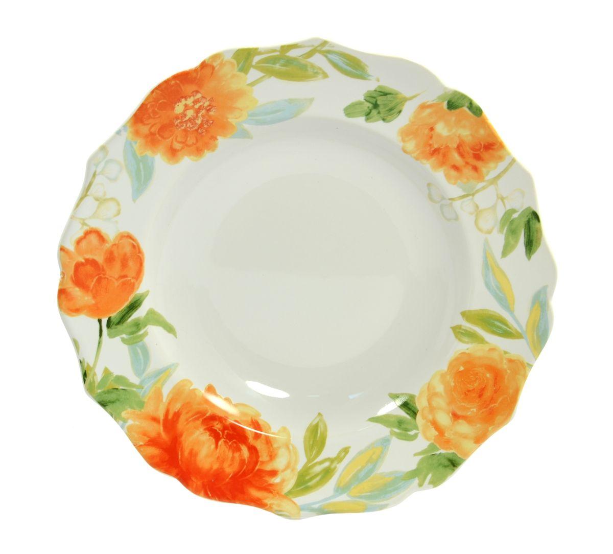 Тарелка глубокая Utana Пионы, диаметр 23,5 смUTHH94920Тарелка Utana Пионы изготовлена из высококачественной керамики. Предназначена для подачи супа или салата. Изделие декорировано оригинальным орнаментом. Такая тарелка украсит сервировку стола и подчеркнет прекрасный вкус хозяйки.Можно мыть в посудомоечной машине и использовать в СВЧ. Диаметр: 23,5 см.Высота: 4 см.