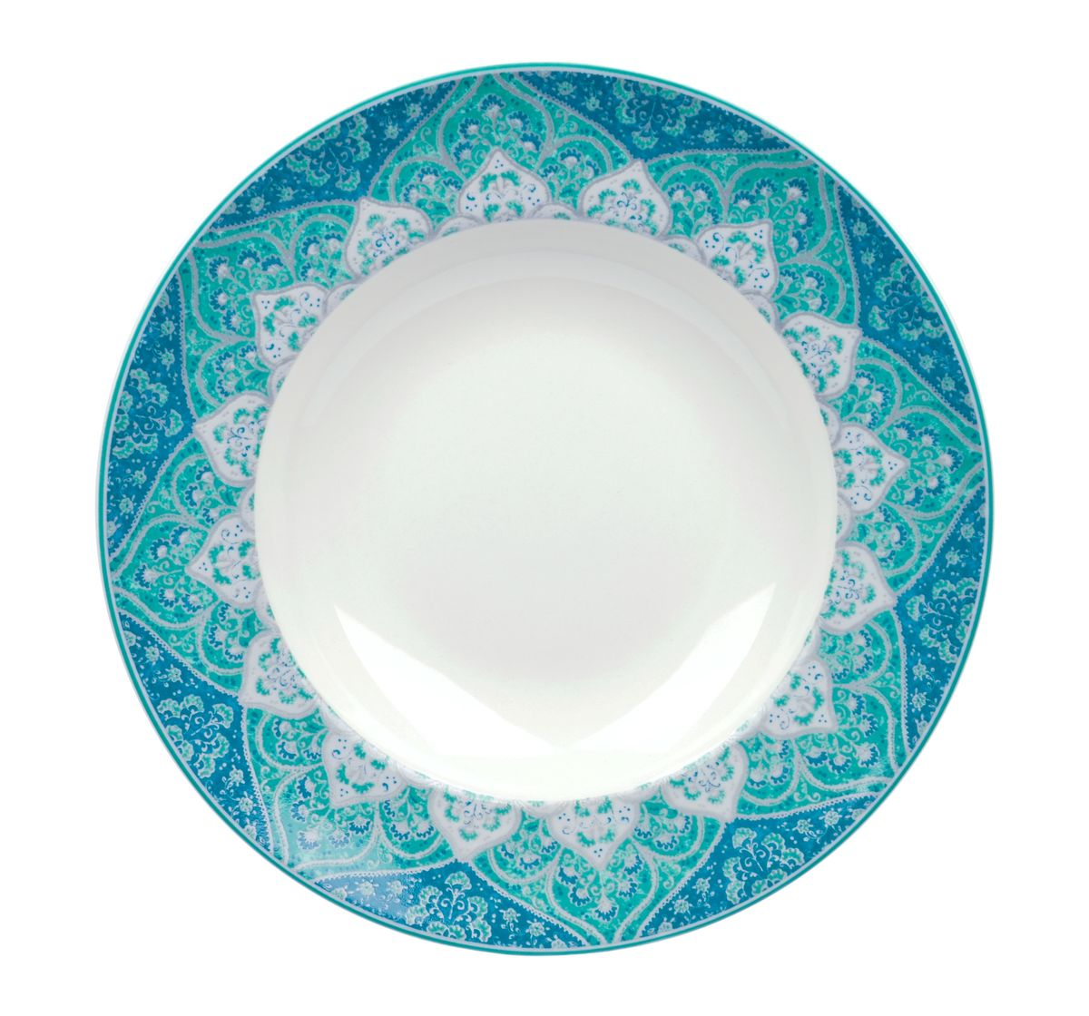 Тарелка глубокая Utana Кашан Блю, диаметр 24 смUTKB94920Тарелка Utana Кашан Блю изготовлена из высококачественной керамики. Предназначена для подачи супа или салата. Изделие декорировано оригинальным орнаментом. Такая тарелка украсит сервировку стола и подчеркнет прекрасный вкус хозяйки.Можно мыть в посудомоечной машине и использовать в СВЧ. Диаметр: 24 см.Высота: 4,5 см.