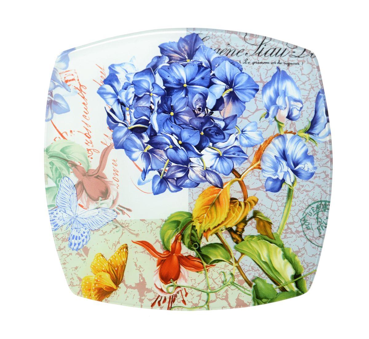Тарелка Zibo Shelley Флоксы, 25 х 25 смZSFL350010BКвадратная тарелка Zibo Shelley Флоксы, изготовленная из стекла, декорированаярким изображением цветов. Она не только украсит сервировку вашего стола и подчеркнетпрекрасный вкусхозяина, но и станет отличным подарком.Можно использовать в посудомоечной машине и СВЧ. Размер по верхнему краю: 25 см х 25 см.Высота: 1,9 см.