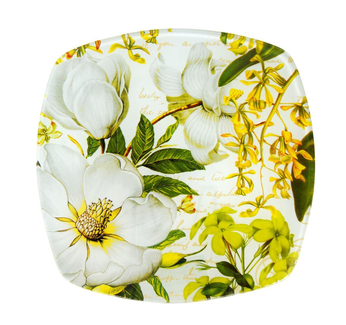 Тарелка Zibo Shelley Белая роза, 20 см х 20 смZSWR350008Тарелка Zibo Shelley Белая роза изготовлена из высококачественного стекла и предназначена для красивой подачи различных блюд. Изделие декорировано оригинальной яркой картинкой. Такая тарелка украсит сервировку стола и подчеркнет прекрасный вкус хозяйки.Можно мыть в посудомоечной машине. Размер изделия (по верхнему краю): 20 см х 20 см. Высота изделия: 1,5 см.