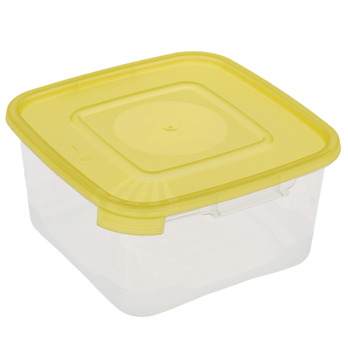 Контейнер Полимербыт Каскад, цвет: желтый, 460 млС610Контейнер Полимербыт Каскад квадратной формы, изготовленный из прочного пластика, предназначен специально для хранения пищевых продуктов. Крышка легко открывается и плотно закрывается.Прозрачные стенки позволяют видеть содержимое. Контейнер устойчив к воздействию масел и жиров, легко моется. Контейнер имеет возможность хранения продуктов глубокой заморозки, обладает высокой прочностью. Можно мыть в посудомоечной машине. Подходит для использования в микроволновых печах.