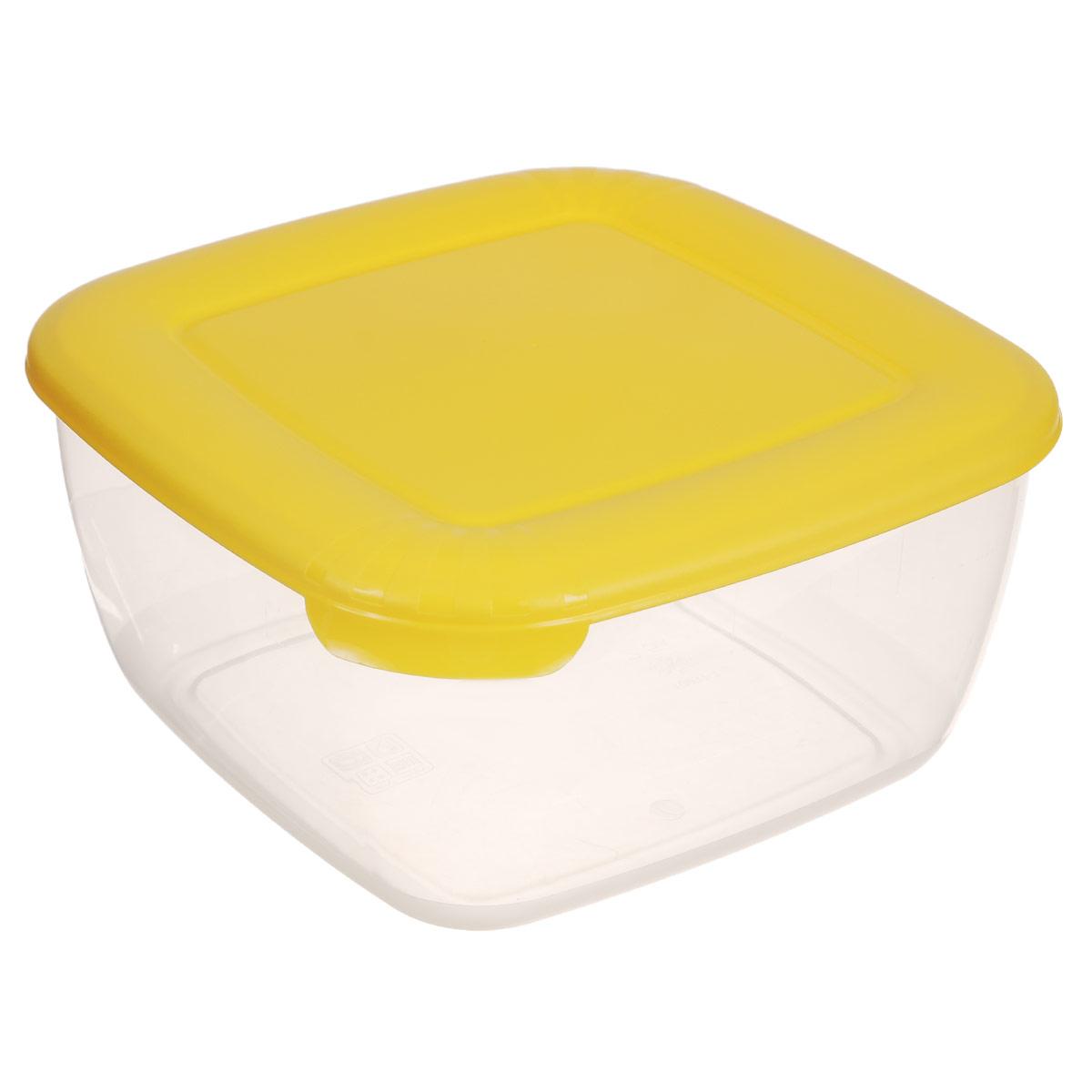 Контейнер Полимербыт Лайт, цвет: желтый, 2,5 л116833_серый, прозрачныйКонтейнер Полимербыт Лайт квадратной формы, изготовленный из прочного пластика, предназначен специально для хранения пищевых продуктов. Крышка легко открывается и плотно закрывается. Контейнер устойчив к воздействию масел и жиров, легко моется. Прозрачные стенки позволяют видеть содержимое. Контейнер имеет возможность хранения продуктов глубокой заморозки, обладает высокой прочностью. Подходит для использования в микроволновых печах.Можно мыть в посудомоечной машине.