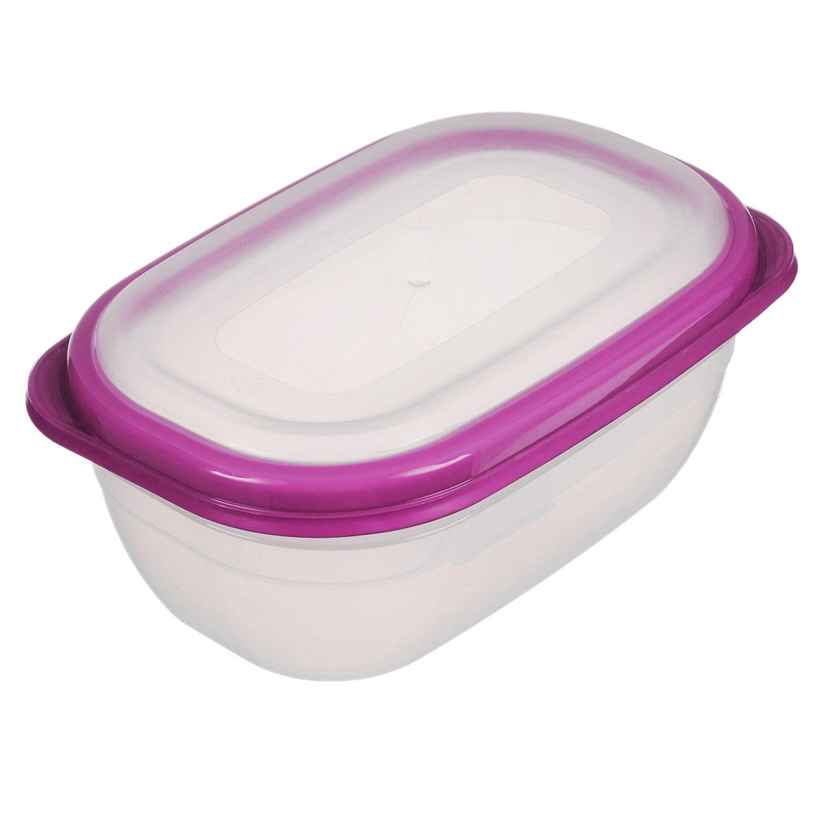 Контейнер для СВЧ Полимербыт Премиум, цвет: прозрачный, розовый, 0,5 лС560Прямоугольный контейнер для СВЧ Полимербыт Премиум изготовлен из высококачественного прочного пластика, устойчивого к высоким температурам (до +110°С). Крышка плотно и герметично закрывается, дольше сохраняя продукты свежими и вкусными. Контейнер идеально подходит для хранения пищи, его удобно брать с собой на работу, учебу, пикник или просто использовать для хранения пищи в холодильнике.Подходит для разогрева пищи в микроволновой печи и для заморозки в морозильной камере (при минимальной температуре -40°С). Можно мыть в посудомоечной машине.