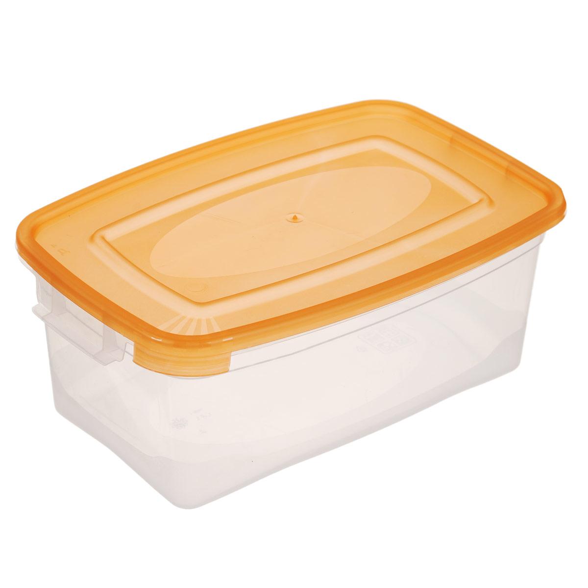 Контейнер Полимербыт Каскад, цвет: прозрачный, оранжевый, 1 л. С570 клавиатура a4tech kls 7muu