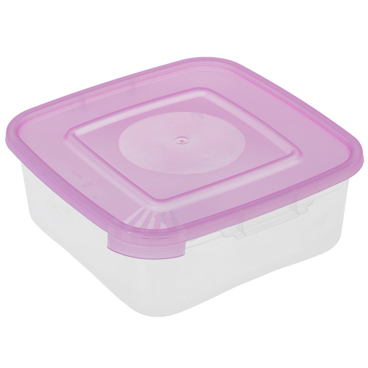 Контейнер Полимербыт Каскад, цвет: розовый, 700 млС640Контейнер Полимербыт Каскад квадратной формы, изготовленный из прочного пластика, предназначен специально для хранения пищевых продуктов. Крышка легко открывается и плотно закрывается.Прозрачные стенки позволяют видеть содержимое. Контейнер устойчив к воздействию масел и жиров, легко моется. Контейнер имеет возможность хранения продуктов глубокой заморозки, обладает высокой прочностью. Можно мыть в посудомоечной машине. Подходит для использования в микроволновых печах.