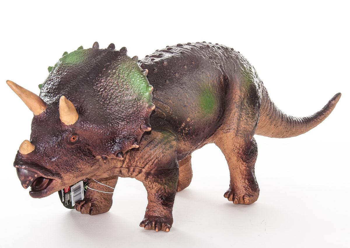 Megasaurs Фигурка Трицератопс цвет коричневый бежевый фигурка megasaurs тираннозавр с двигающейся пастью цвет оранжевый зеленый