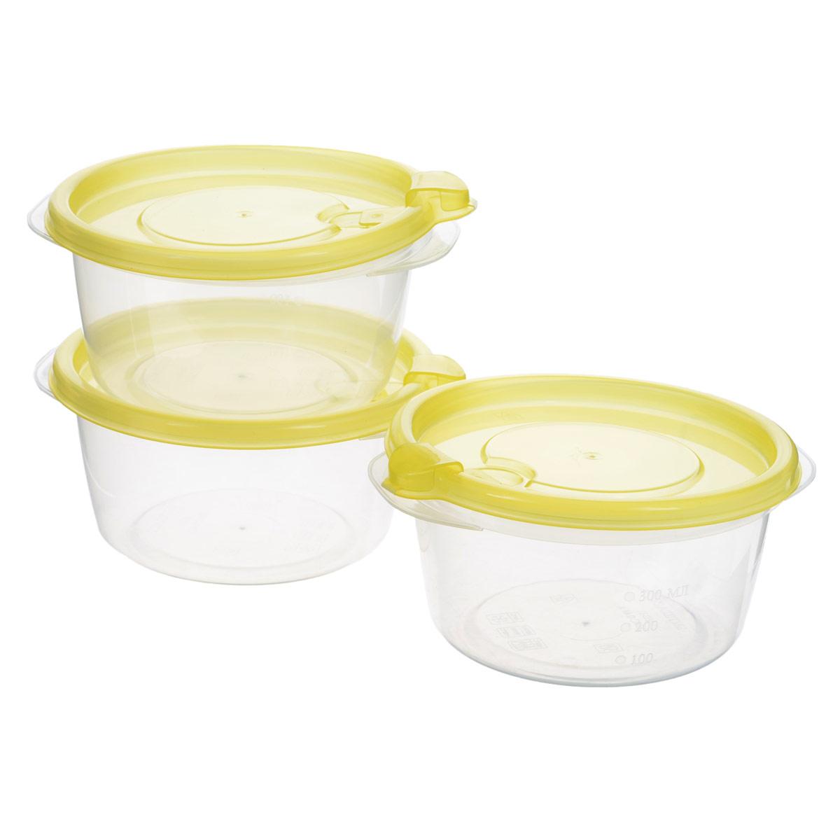Комплект контейнеров для хранения продуктов Бытпласт Фрэш, 0,44 л, 3 шт. С11523С11523Контейнеры Бытпласт Фрэш предназначены для хранения пищевых продуктов и не только. Они выполнены из высококачественного полипропилена и не содержат Бисфенол А. Крышка легко и плотно закрывается. Контейнер устойчив к воздействию масел и жиров, легко моется. Подходит для использования в микроволновых печах, выдерживает хранение в морозильной камере при температуре -24 градуса.Пищевые контейнеры необыкновенно удобны: в них можно брать еду на работу, за город, ребенку в школу. Именно поэтому они обретают все большую популярность.