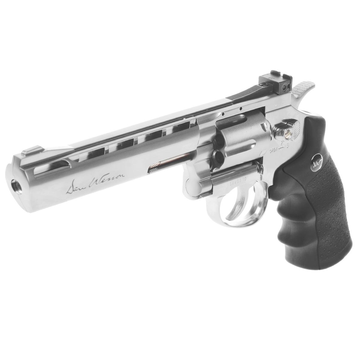 """Револьвер пневматический пулевой ASG """"Dan Wesson 6"""" Silver"""", калибр 4,5 мм"""