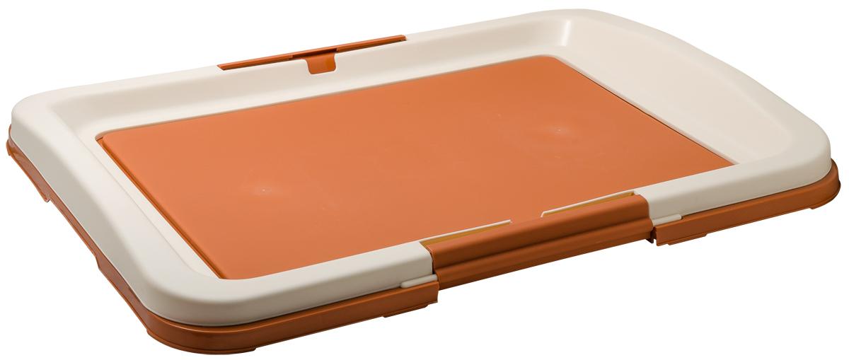 Туалет для собак V.I.Pet  Японский стиль , цвет: коричневый, молочный, 63 х 49 х 6 см - Наполнители и туалетные принадлежности - Лотки и совки