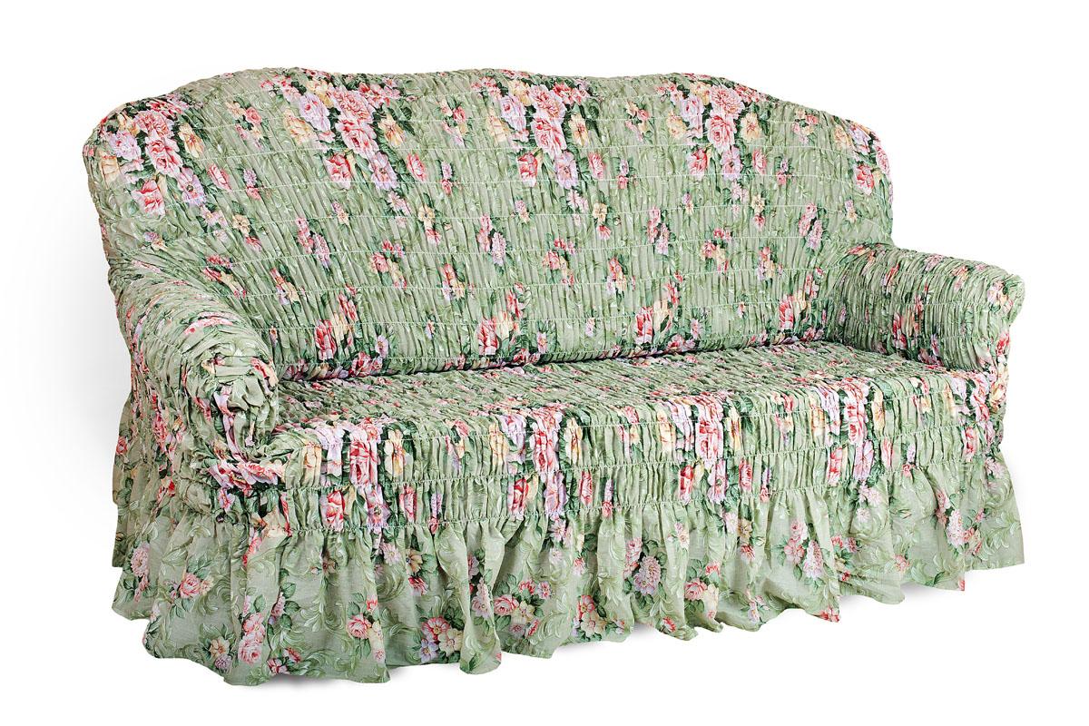 Чехол на 3-х местный диван Еврочехол Фантазия, 160-220 см. 2/13-3 натяжной чехол на трехместный диван еврочехол еврочехол фантазия венеция