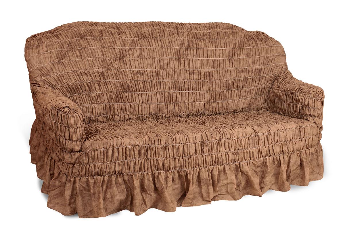 Чехол на 2-х местный диван Еврочехол Фантазия, цвет: шоколадный, 100-160 см2/13-2Чехол на 2-х местный диван Еврочехол Фантазия выполнен из 50% хлопка, 50% полиэстера. Он идеально подойдет для тех, кто хочет защитить свою мебель от постоянных воздействий. Этот чехол, благодаря прочности ткани, станет идеальным решением для владельцев домашних животных. Кроме того, состав ткани гипоаллергенен, а потому безопасен для малышей или людей пожилого возраста. Такой чехол отлично впишется в любой интерьер. Еврочехол послужит не только практичной защитой для вашей мебели, но и приятно удивит вас мягкостью ткани и итальянским качеством производства. Растяжимость чехла по спинке (без учета подлокотников): 100-160 см.