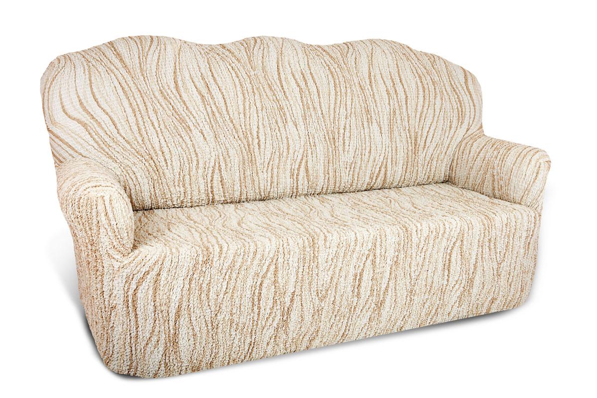 Еврочехол на 2-х местный диван Еврочехол Элегант, цвет: кремовый. 6/43-2 чехлы для мебели еврочехол еврочехол плиссе лен на кресло