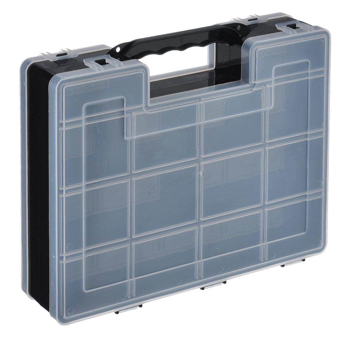 Органайзер для инструментов Idea, двухсторонний, цвет: черный, 27,2 см х 21,7 см х 6,7 см подвеска кустарь кошка 10 см х 12 см х 0 4 см
