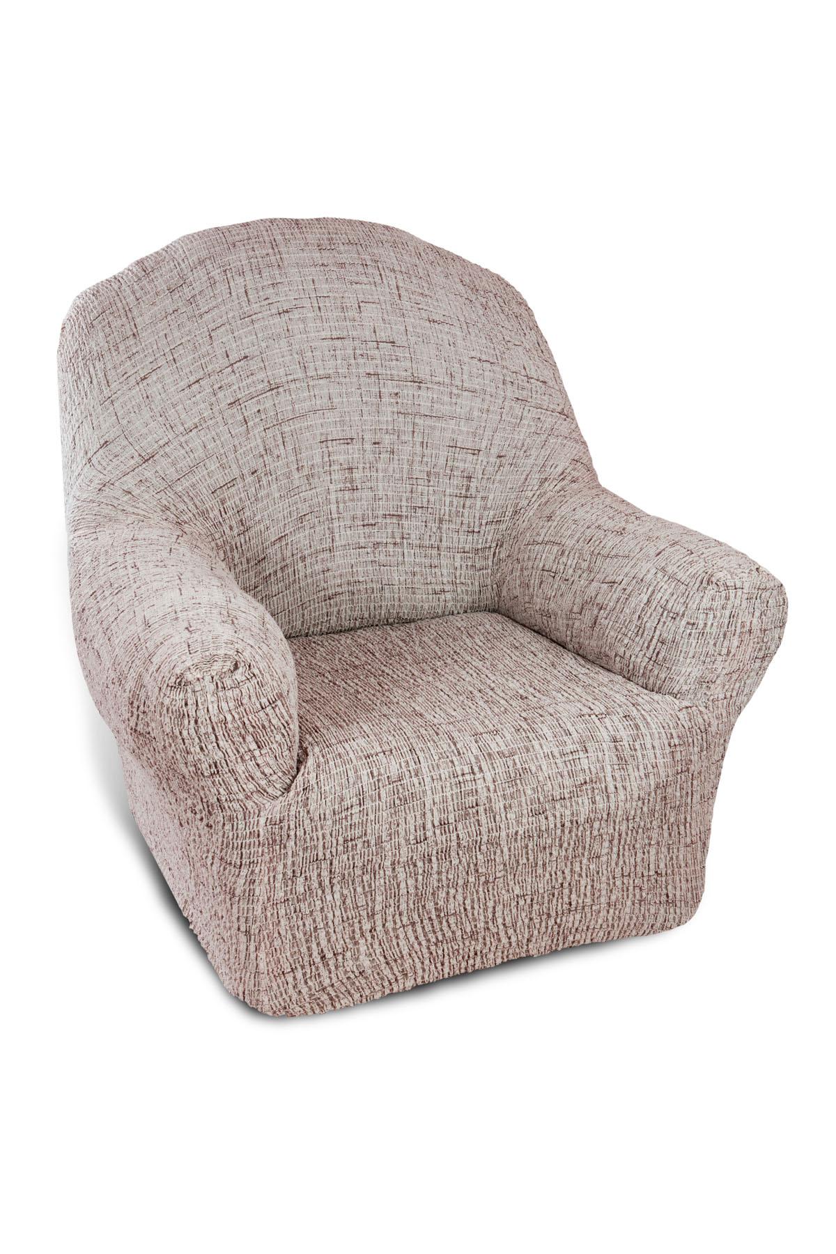 Чехол на кресло Еврочехол Плиссе, цвет: светло-бежевый, коричневый, 60-90 см7/49-1Чехол на кресло Еврочехол Плиссе выполнен из 50% хлопка и 50% полиэстера. Такой состав ткани гипоаллергенен, а потому безопасен для малышей или людей пожилого возраста. Такой чехол защитит вашу мебель от повседневных воздействий. Дизайн чехла отлично впишется в интерьер, выполненный из натуральных материалов. Приятный оттенок придаст ощущение свежести и единения с природой. Чехол Плиссе - отличный вариант для мебели в гостиной, кухне, спальне, детской или прихожей! Интерьер в стиле эко, кантри, фьюжн, хай-тек, скандинавских мотивов и других. Утонченный итальянский дизайн чехла отлично впишется в городские и загородные дома. Гарантированное итальянское качество производства обеспечит долгое пользование.Растяжимость чехла по спинке (без учета подлокотников): 60-90 см.