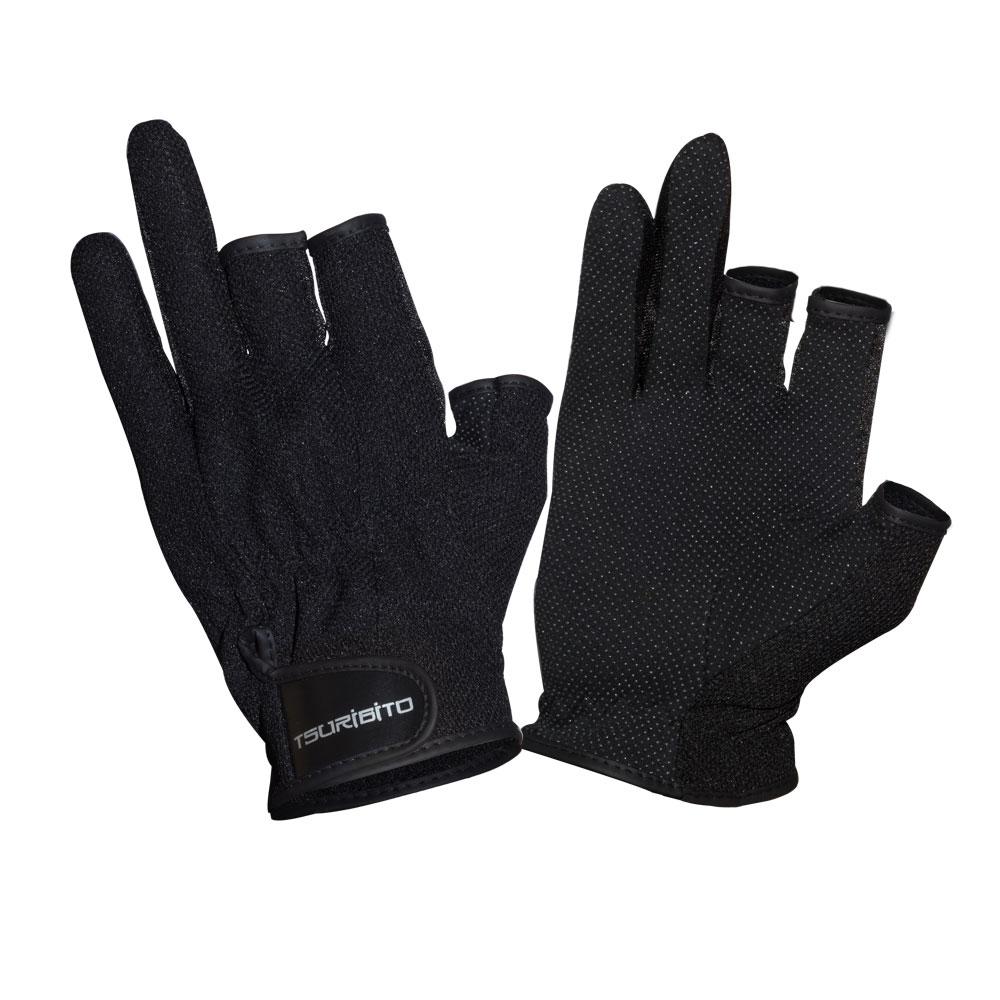 Перчатки рыболовные Tsuribito SFG-8016, цвет: черный81530Стильные и практичные рыболовные перчатки универсального размера Tsuribito SFG-8016, изготовленные из полиэстера, незаменимы в промозглую и ветреную погоду. Эргономичный крой перчаток и использование современных материалов позволило добиться их великолепной посадки на руке.Они прекрасно защищают от переохлаждения и обветривания, продлевая время нахождения на рыбалке в холодный и сырой день. Самые легкие перчатки Tsuribito SFG-8016 рассчитаны на относительно высокую температуру. Комфортные и удобные при носке, эти перчатки являются многофункциональными и будут востребованы не только во время рыбной ловли.