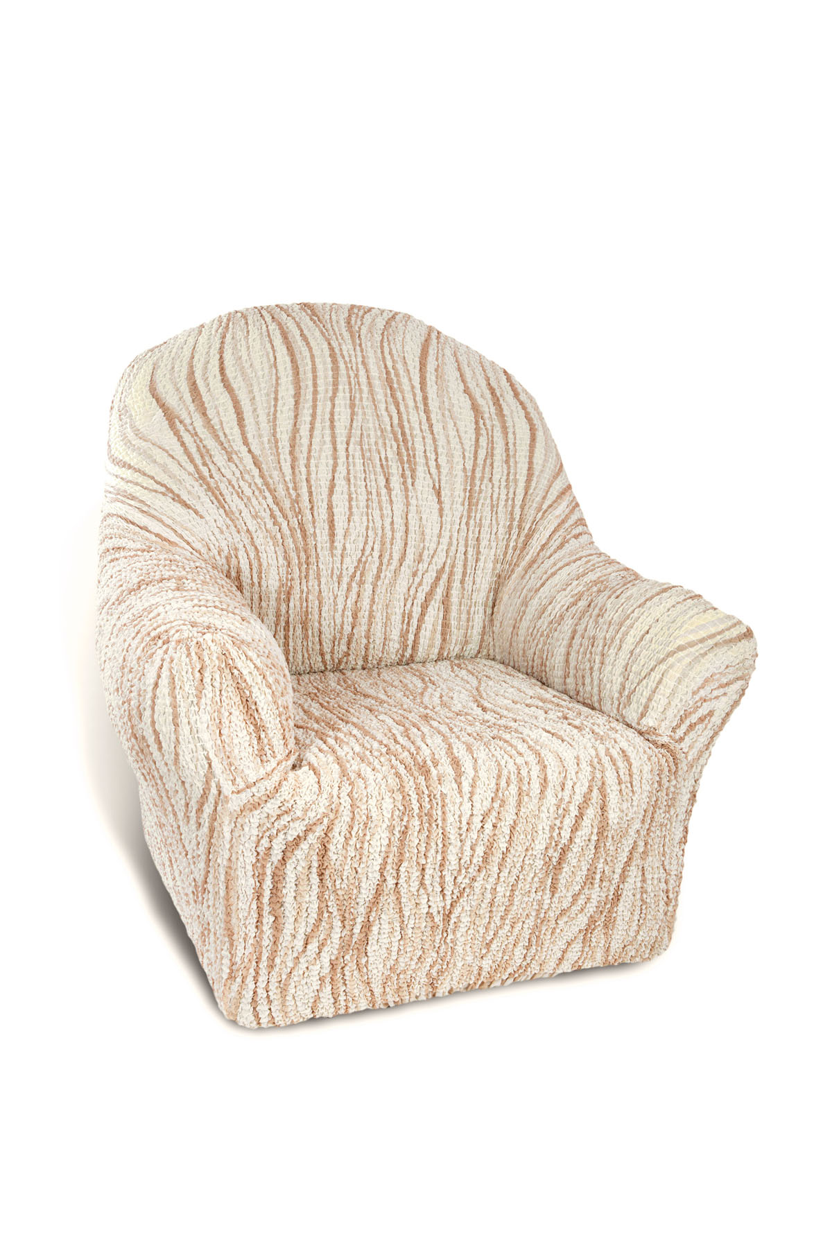 Чехол на кресло Еврочехол Виста, 60-100 см. 6/43-16/43-1Чехол на кресло Еврочехол Виста выполнен из 50% хлопка, 50% полиэстера. Он идеально подойдет для тех, кто хочет защитить свою мебель от постоянных воздействий. Этот чехол, благодаря прочности ткани, станет идеальным решением для владельцев домашних животных. Кроме того, состав ткани гипоаллергенен, а потому безопасен для малышей или людей пожилого возраста. Такой чехол отлично впишется в любой интерьер. Еврочехол послужит не только практичной защитой для вашей мебели, но и приятно удивит вас мягкостью ткани и итальянским качеством производства.Растяжимость чехла по спинке (без учета подлокотников): 60-100 см.