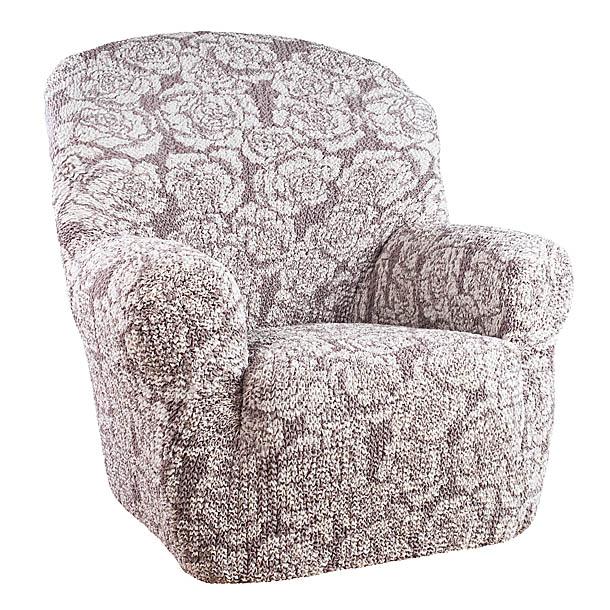 Чехол на кресло Еврочехол Виста, цвет: светло-серый, кофейный, 60-100 см6/44-1Чехол на кресло Еврочехол Виста выполнен из 50% хлопка, 50% полиэстера. Он особенно актуален для тех, кто хочет защитить свою мебель от постоянных воздействий. Этот чехол для мебели, благодаря прочности ткани, станет идеальным решением для владельцев домашних животных. Кроме того, натуральный состав ткани гипоаллергенен, а потому безопасен для малышей или людей пожилого возраста. Общая цветовая гамма чехла характеризуется мягкими, спокойными тонами. Такой чехол по достоинству оценят любители романтизма, ампира и других интерьерных стилей, отличающихся элегантностью, изысканностью и чувственностью. Гостиная, комната, кухня или детская - чехол на кресло Виста украсит любое помещение в вашем доме. А сторонники практичности могут быть уверены в том, что он прослужит 3-5 лет! Растяжимость чехла по спинке (без учета подлокотников): 60-100 см.
