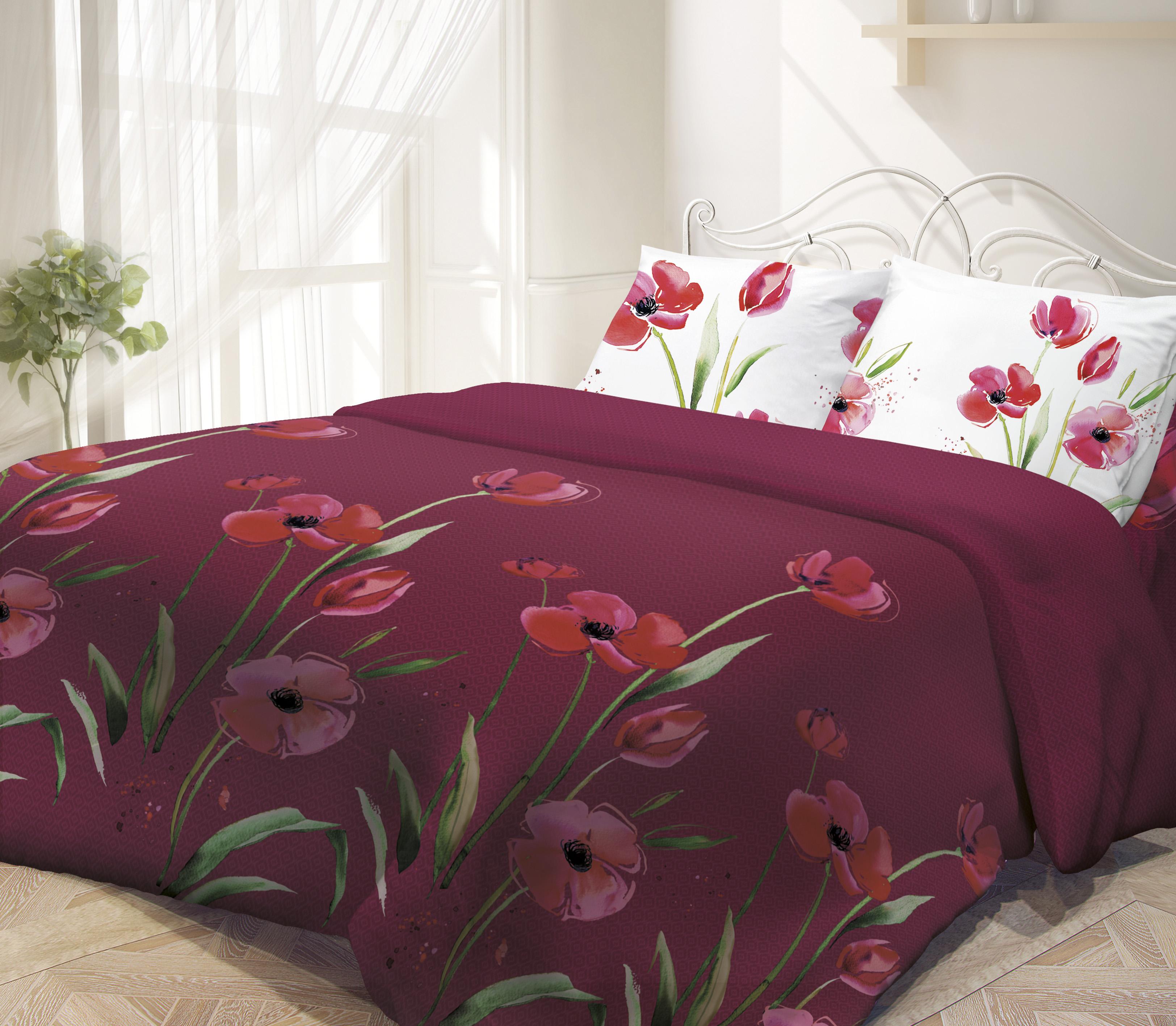 Постельное белье Гармония Маки, 2-спальное, наволочки 70х70. 187386