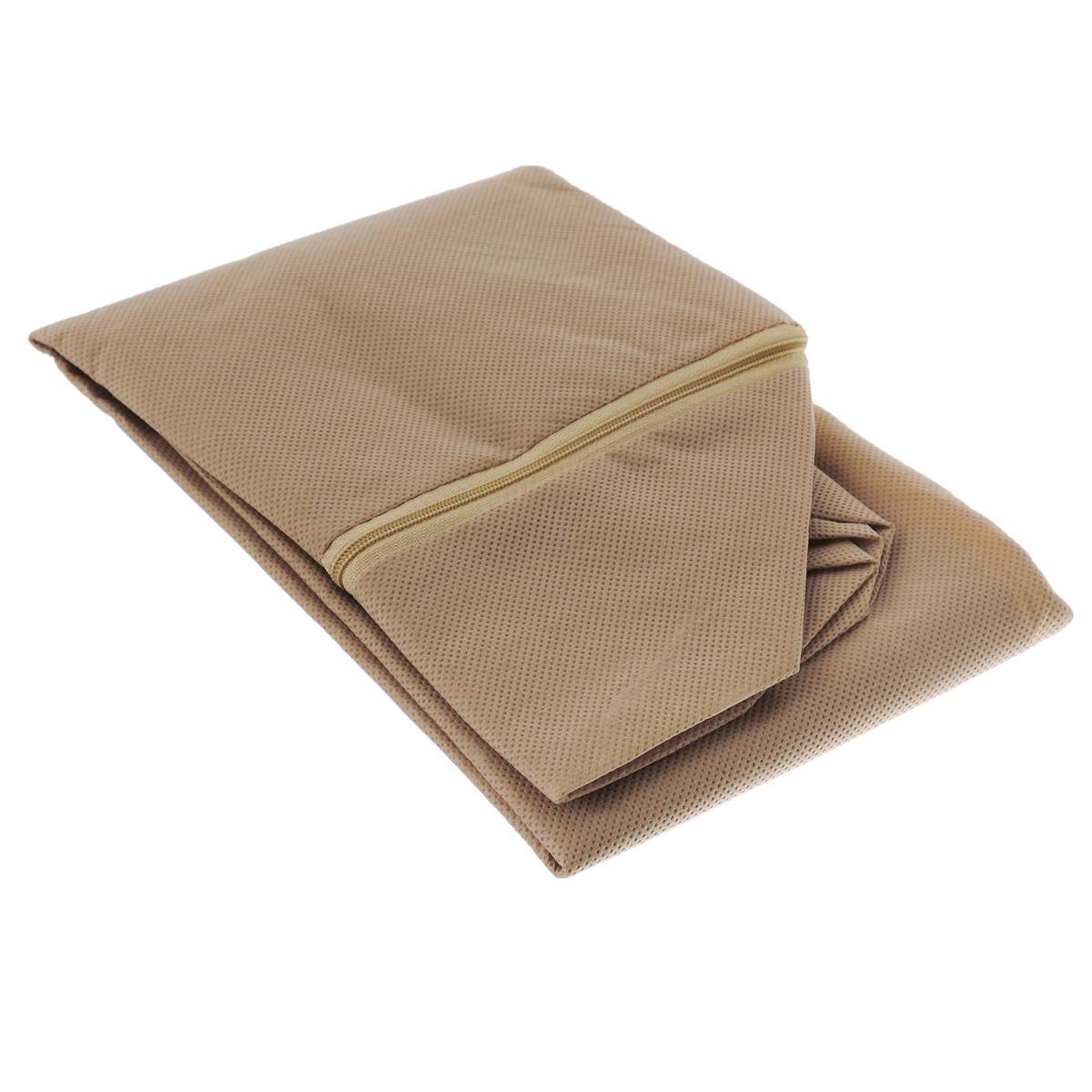 Чехол для хранения одеял Eva, цвет: бежевый, 60 см х 40 см х 20 смЕ52Чехол Eva изготовлен из ППР и ПВХ и предназначен для хранения одеял. Нетканый материал чехла пропускает воздух, что позволяет изделиям дышать. Это особенно необходимо для изделий из натуральных материалов. Благодаря такому чехлу, вещи не впитывают посторонние запахи. Застегивается на застежку-молнию.Материал: ППР, ПВХ.