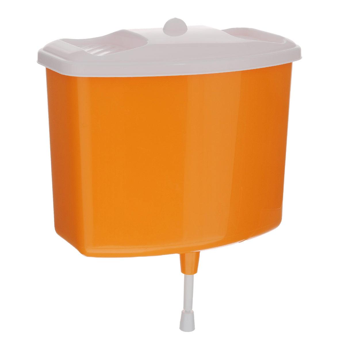 Рукомойник Альтернатива, цвет: оранжевый, 5 лM367Рукомойник Альтернатива изготовлен из пластика. Он предназначен для умывания в саду или на даче. Яркий и красочный, он отлично впишется в окружающую обстановку. Петли предоставляют вертикальное крепление рукомойника. Изделие оснащено крышкой, которая предотвращает попадание мусора. Также на крышке имеется две выемки для мыла. Рукомойник Альтернатива надежный и удобный в использовании.Размер рукомойника: 26,5 см х 15 см.Высота (без учета крышки): 23 см.