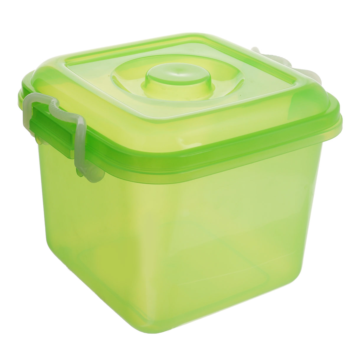 Контейнер для хранения Idea Океаник, цвет: зеленый, 8 лМ 2856Контейнер Idea Океаник выполнен из пищевого пластика, предназначен для хранения различных вещей.Контейнер снабжен эргономичной плотно закрывающейся крышкой со специальными боковыми фиксаторами.