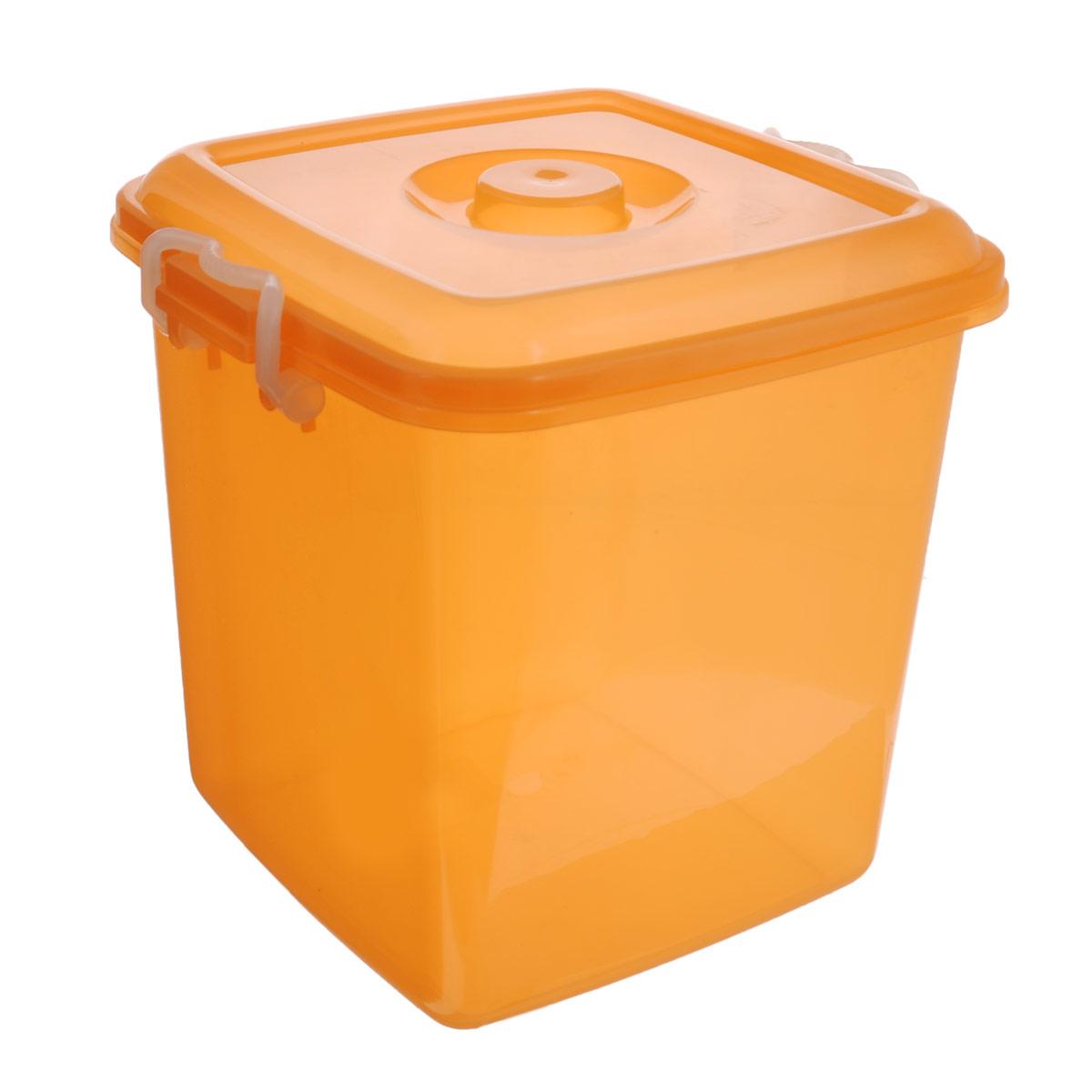 Контейнер для хранения Idea Океаник, цвет: оранжевый, 20 лМ 2858Контейнер Idea Океаник выполнен из высококачественного полипропилена, предназначен для хранения различных вещей.Контейнер снабжен эргономичной плотно закрывающейся крышкой со специальными боковыми фиксаторами. Объем контейнера: 20 л.