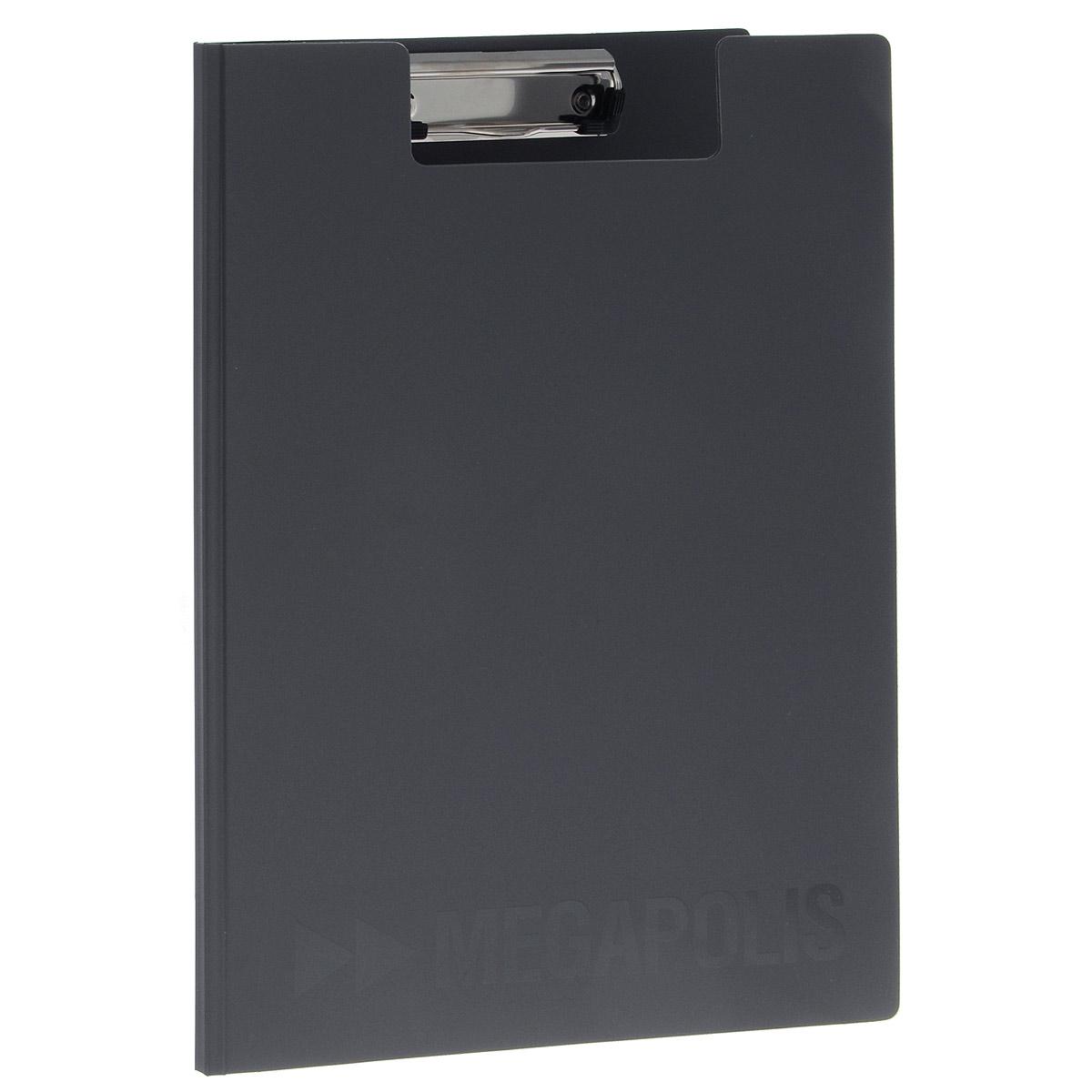 Папка-планшет Erich Krause Megapolis, формат А4, цвет: серый3877Папка-планшет Erich Krause Megapolis будет незаменима для работы с документацией в дороге или на складе, а так же может быть использована для подготовки и хранения текстов выступлений или докладов.Изготовлена из жесткого пластика, и ПВХ. Благодаря своей жесткости позволяет делать записи на весу. Металлический зажим надежно фиксирует листы, предотвращая сползание бумаги. Есть внутренний карман для заметок.