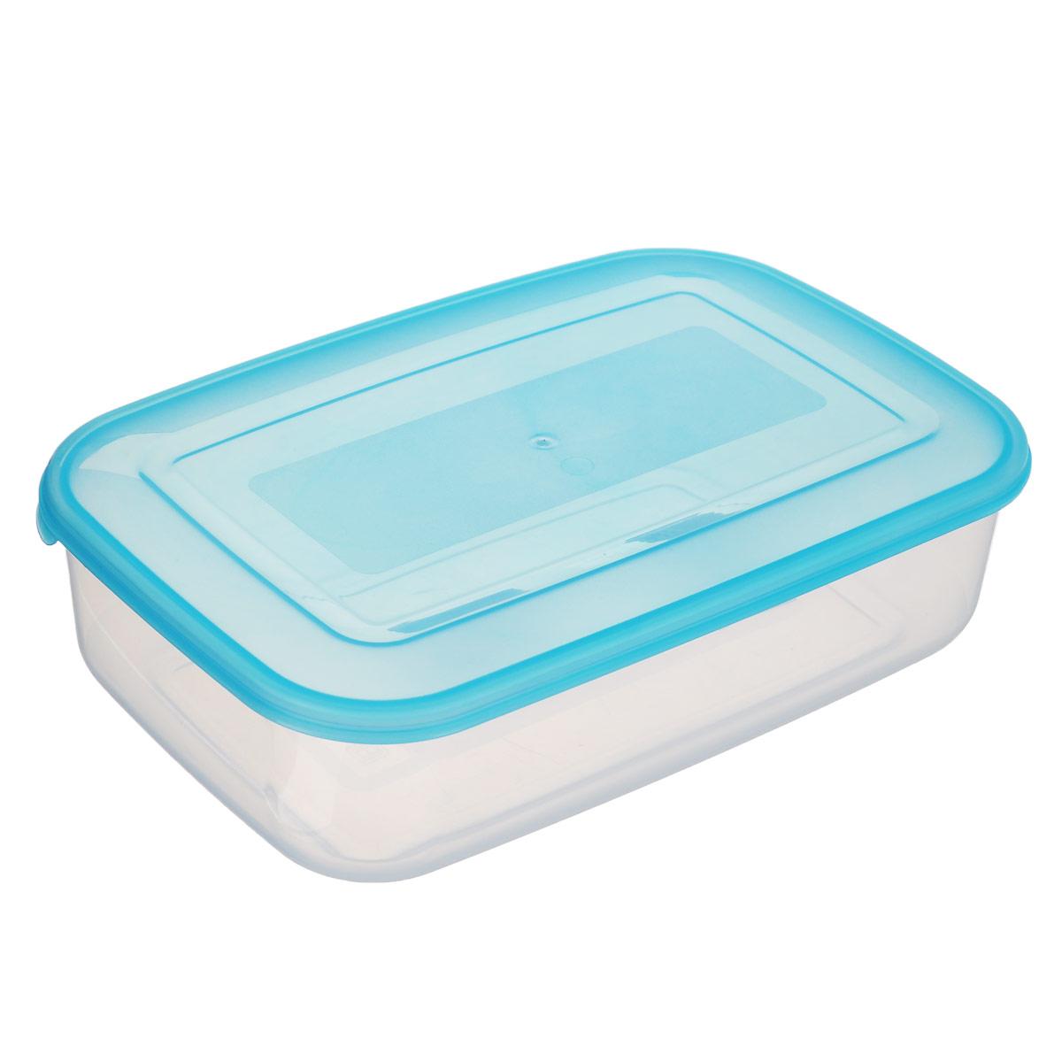 Контейнер пищевой Бытпласт Прима, цвет: голубой, прозрачный, 1,3 лС11007_голубой, прозрачныйКонтейнер Бытпласт Прима изготовлен из высококачественного полипропилена и не содержит Бисфенол А. Крышка легко и плотно закрывается. Контейнер устойчив к воздействию масел и жиров, легко моется.Подходит для использования в микроволновых печах, его можно мыть в посудомоечной машине.Объем контейнера: 1,3 л.