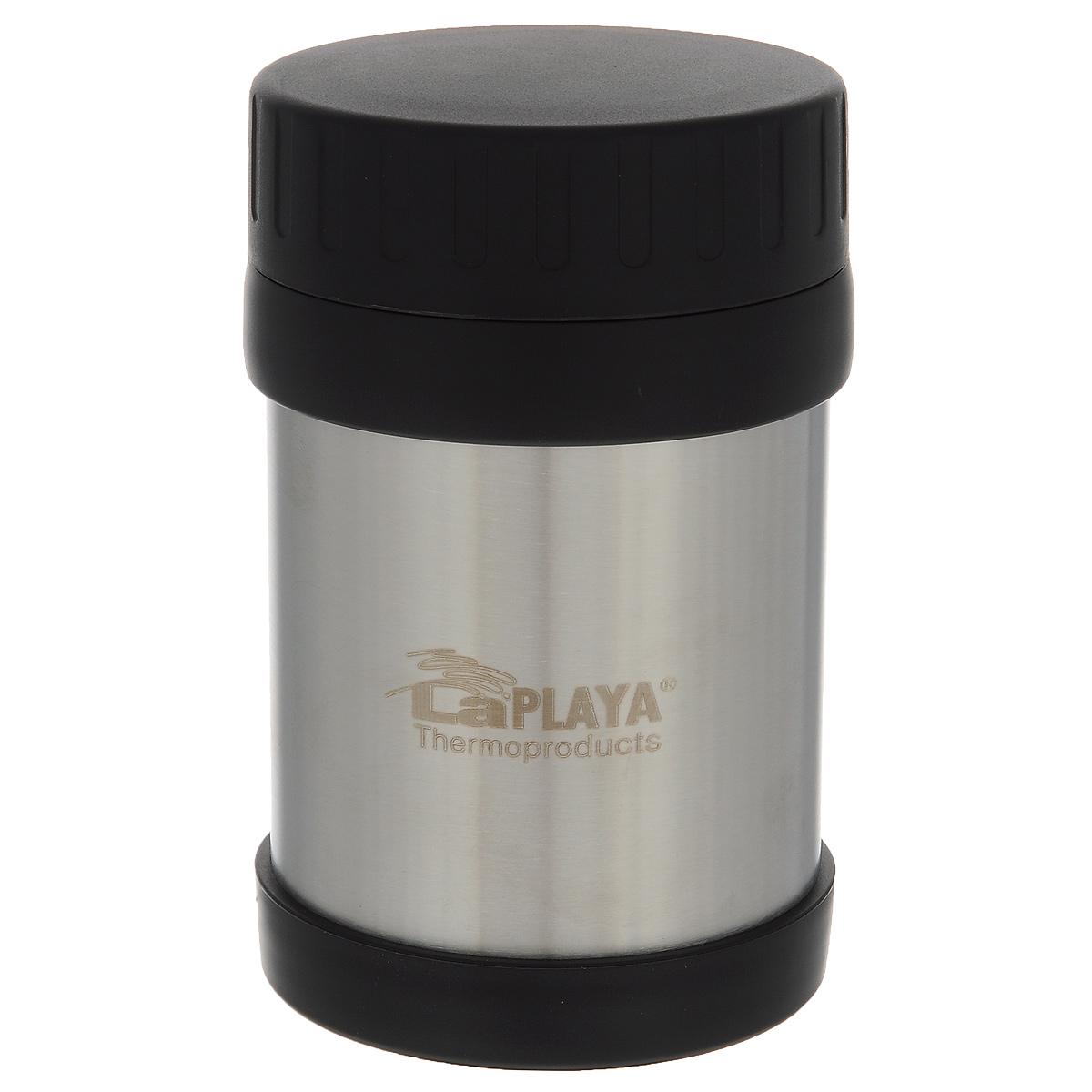 Термос LaPlaya JMG, цвет: серебристый, 350 мл560036Термос LaPlaya JMG изготовлен из высококачественной нержавеющей стали 18/8 и пластика. Термос с двухстеночной вакуумной изоляцией, предназначенный для хранения горячих и холодных продуктов, сохраняет их до 6 часов горячими и холодными в течении 8 часов. Термос очень легкий, имеет широкое горло и закрывается герметичной крышкой.Идеально подходит для напитков, а также первых и вторых блюд. Высота: 14 см.Диаметр горлышка: 6,8 см.