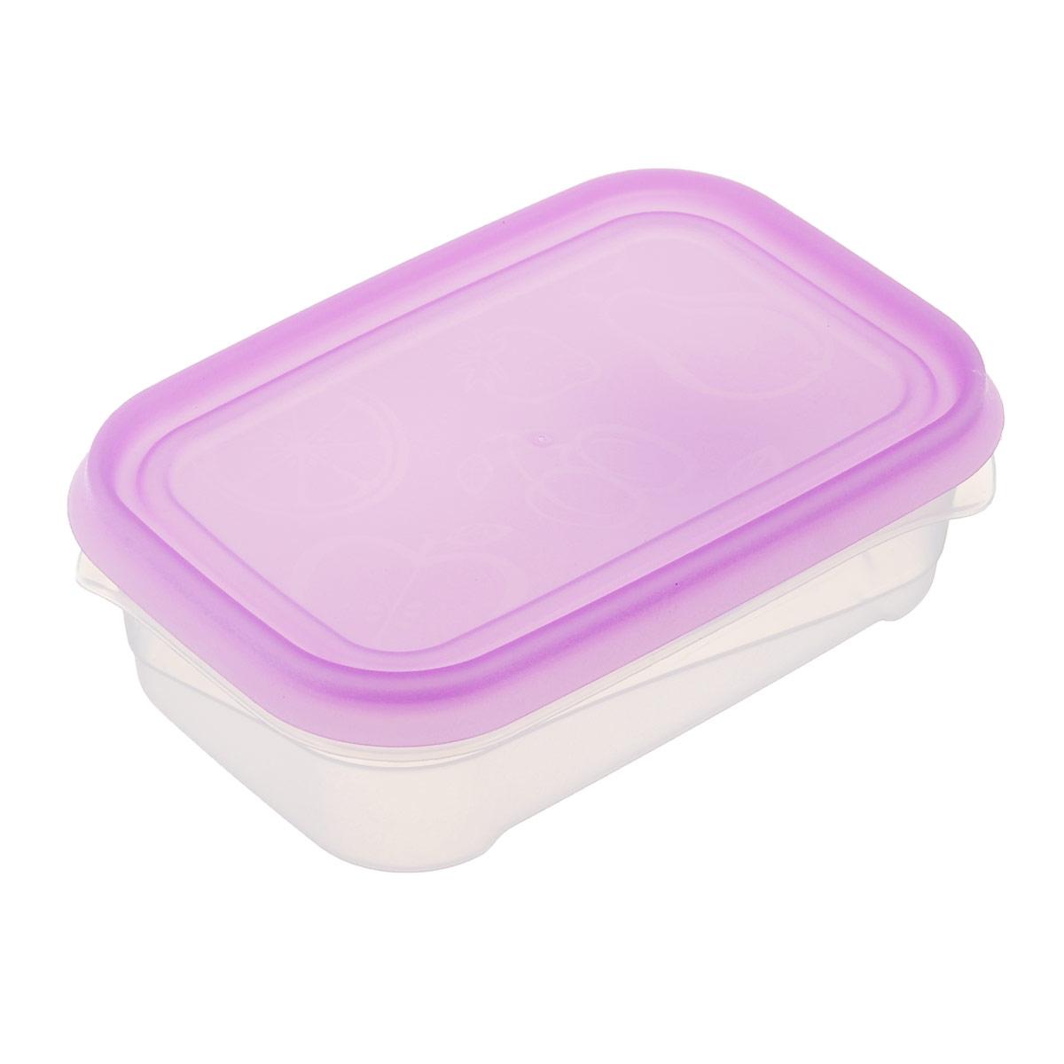 Контейнер Phibo Freeze, цвет: сиреневый, прозрачный, 500 млС11734Контейнер Phibo Freeze изготовлен из высококачественного полипропилена и не содержит Бисфенол А. Крышка легко и плотно закрывается. Контейнер устойчив к воздействию масел и жиров, легко моется.Подходит для использования в микроволновых печах, выдерживает хранение в морозильной камере, его можно мыть в посудомоечной машине.