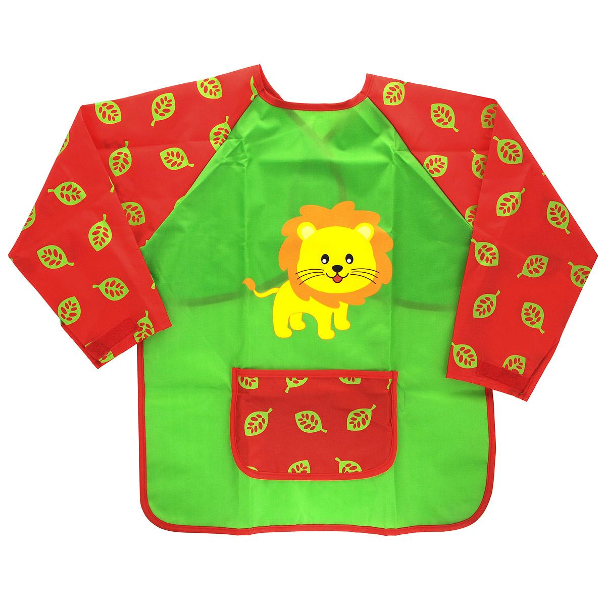 Фартук-накидка для детского творчества Erich Krause Art Berry: Art Smock, на липучке, цвет: зеленый erich krause пластилин мягкий art berry цвет коричневый