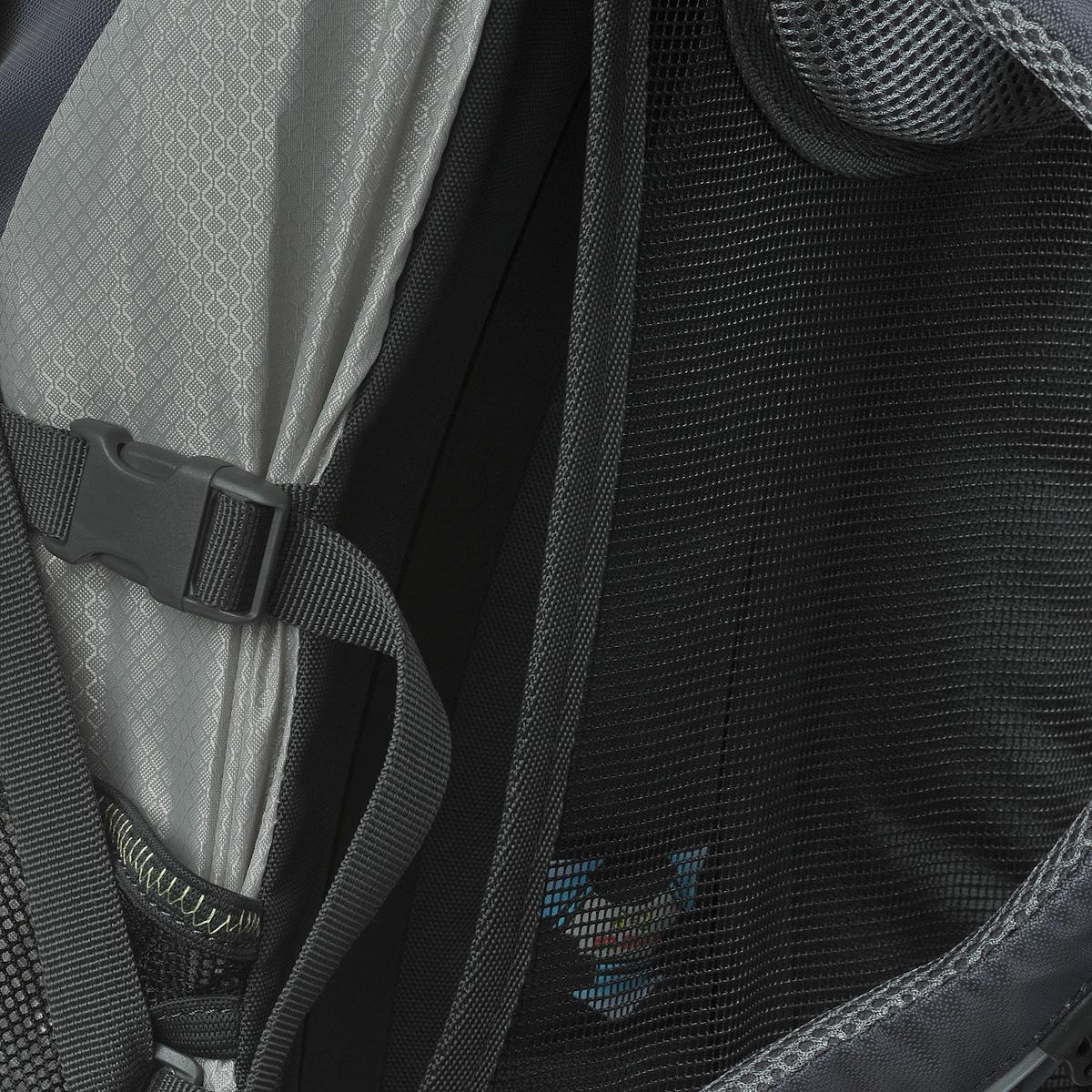 """Многофункциональный штурмовой рюкзак Norfin """"Alpika"""" выполнен из прочного полиэстера. Благодаря многофункциональности данный рюкзак позволяет удобно и легко укладывать свои вещи.  Особенности рюкзака: Подвесная система A-2 с вентиляцией спины Поясной ремень  Грудная стяжка Выход под питьевую систему Большой U-образный вход в основное отделение Два фронтальных кармана Боковые карманы из сетки Съемный верхний клапан с карманом Чехол-дождевик в кармане на дне Возможность крепления трекинговых палок.   Что взять с собой в поход?. Статья OZON Гид"""