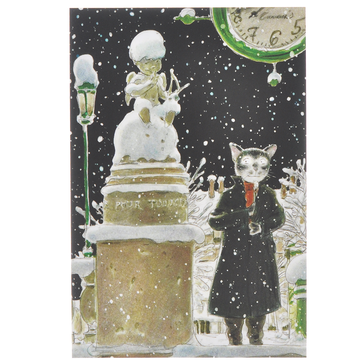 """Открытка """"И еще пять минут"""". Из набора """"Парижский Кот-художник"""". Автор: Андрей Аринушкин"""
