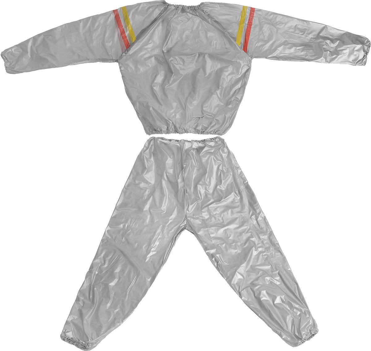 Костюм сауна Ironmaster, цвет: серый, желтый. Размер MIR97901_MКостюм-сауна Ironmasterизготовлен из ПВХ. Предназначен для интенсивного сброса веса во время занятий аэробикой и атлетикой. Эффект основан на тепловом балансе организма. Костюм-сауна, созданный для профессиональных спортсменов с целью быстрого сбрасывания веса перед соревнованиями, сегодня широко используется обычными людьми.Костюм подходит и для женщин, и для мужчин. При использовании этого костюма у вас пропадает лишний вес, калории сжигаются в несколько раз быстрее, чем во время обычных физических нагрузок, а вы выглядите с каждым днем все более привлекательно.