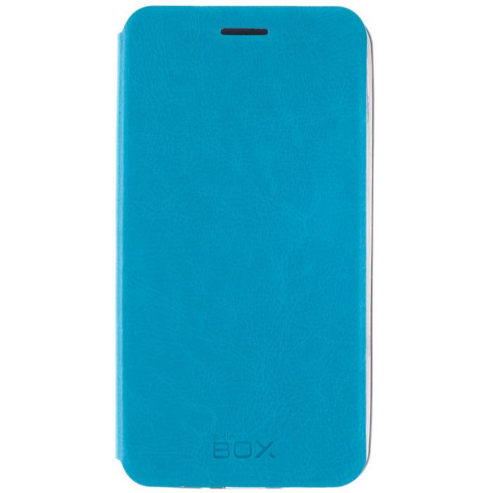 Skinbox Lux чехол для Meizu MX4 Pro, Blue аксессуар чехол meizu pro 6 skinbox lux black t s mp6 003
