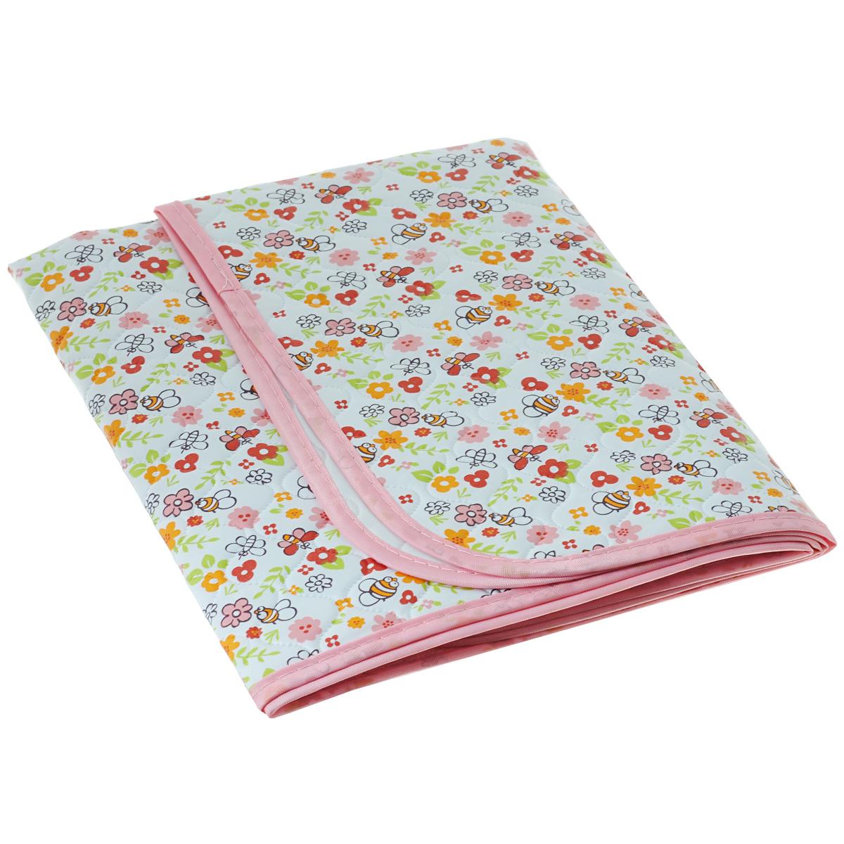 Клеенка трехслойная Мир детства, цвет: розовый детская клеенка мир детства трехслойная