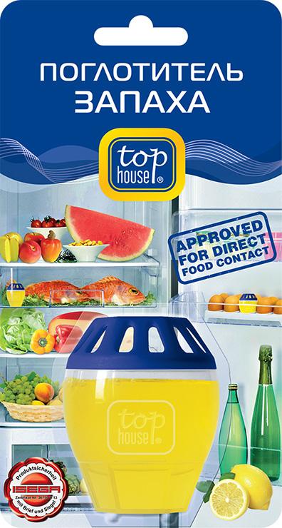 """Поглотитель запаха для холодильника Top House """"Лимон"""" поглощает неприятные запахи, даже очень резкие и  стойкие. Способствует долгому сохранению свежести и вкусовых качеств продуктов в холодильнике. Не меняет  вкус и запах продуктов, хранящихся в холодильнике. Продолжительность действия до 2-х месяцев при объеме  холодильной камеры до 200 литров. Состав: более 30% вода, менее 5%: неионные ПАВ, загуститель, поглотитель запаха, консервант, ароматизатор,  краситель.  Товар сертифицирован."""